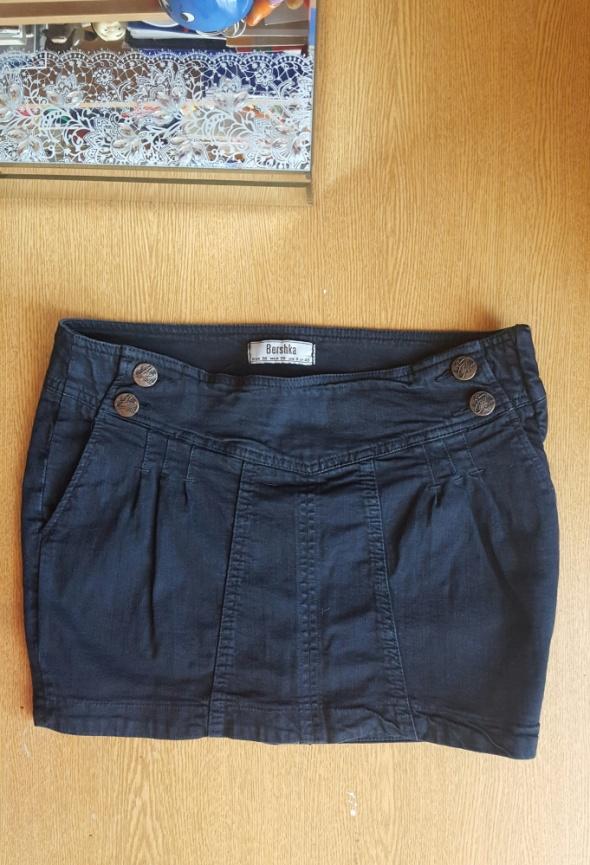 Spódnice Spodnica jeansowa Bershka czarna