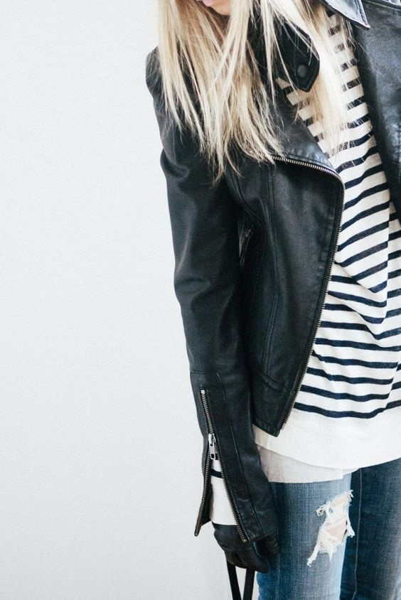 Codzienne striped tee outfit