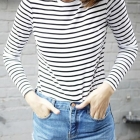 striped tee outfit
