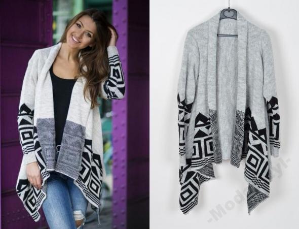 kardigan sweter aztec
