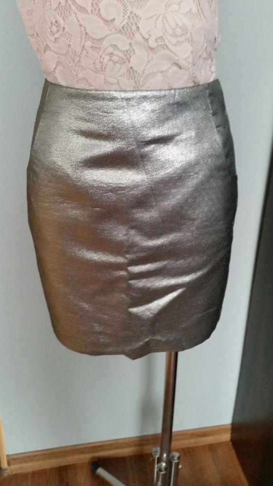 03c220f8 Spodnica srebrna z kieszeniami HM 34 w Spódnice - Szafa.pl