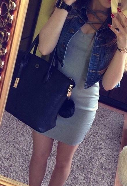 Codzienne dopasowana ołówkowa dresowa sukienka