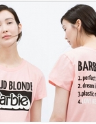 Proud blonde barbie...