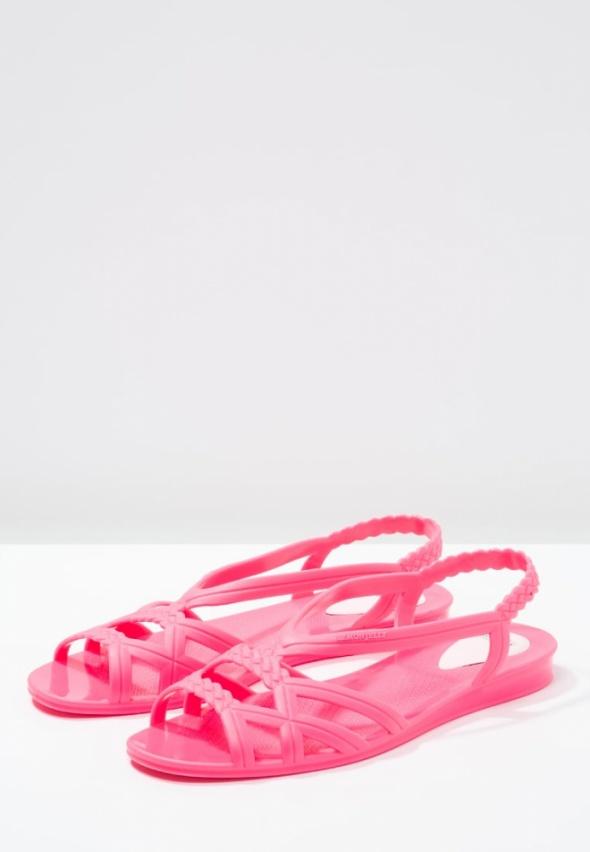 Lemon jelly neon pink sandals