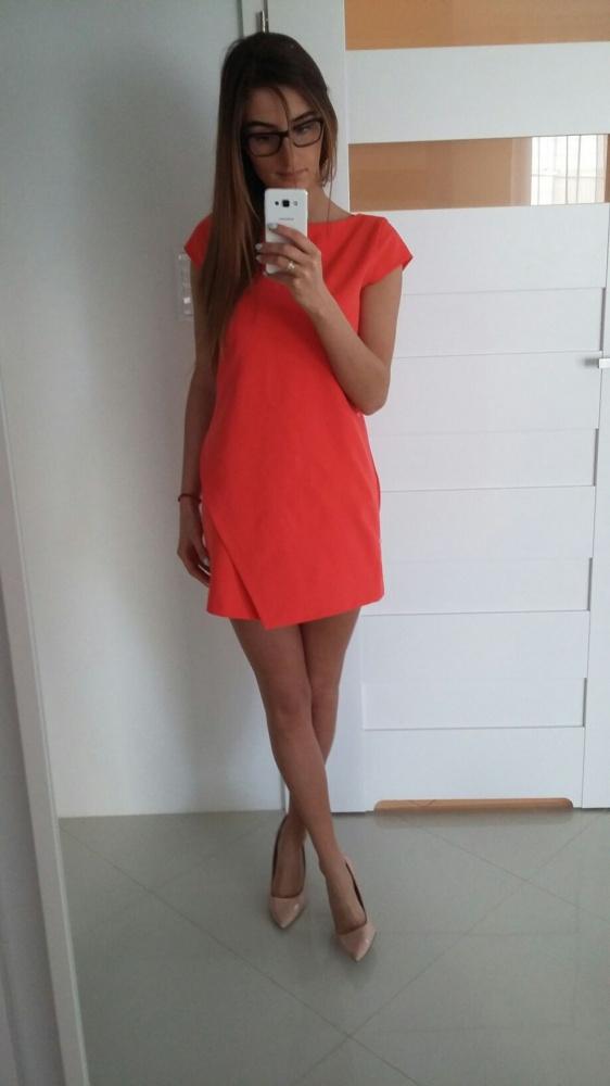 Eleganckie nowa sukienka zara
