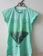 Nowa bluzka koszulka mietowa New York