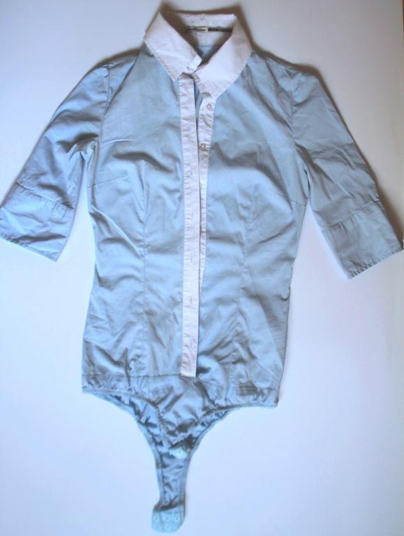 Ubrania Błękitna koszula body Stradivarius