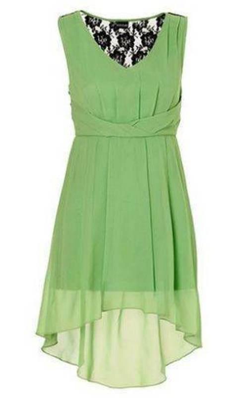 b7d9d2e5c7 Suknie i sukienki Body Flirt nowa asymetryczna sukienka zielona 36 S