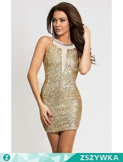 sukienka złota...