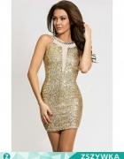 sukienka złota