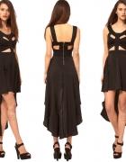 Sukienka asymetryczn a XS S PILNIE