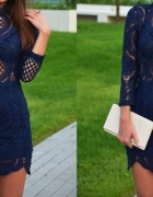 sukienka sheinside granatowa