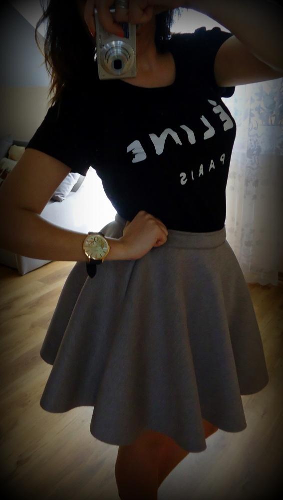 Mój styl Spódniczka z PIANKI szara