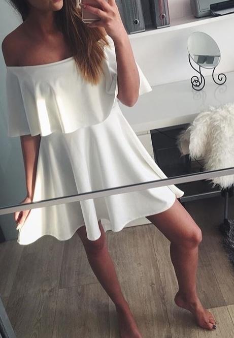 Romantyczne hiszpanka bluzka sukienka falbana przy dekolcie