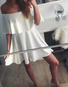hiszpanka bluzka sukienka falbana przy dekolcie
