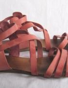 Roz 39 sandały skórza rożowy kolor SUPER 51