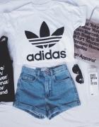 adidas koszulka biała czarna nowa z metkami