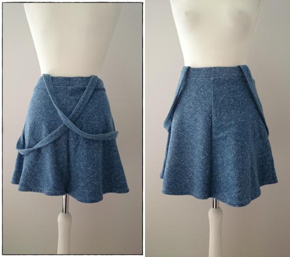 Spódnice Dżinsowa spódnica z koła na szelkach