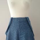 Dżinsowa spódnica z koła na szelkach
