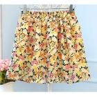 nowa spódnica w kwiaty xs s lekka zwiewna lato