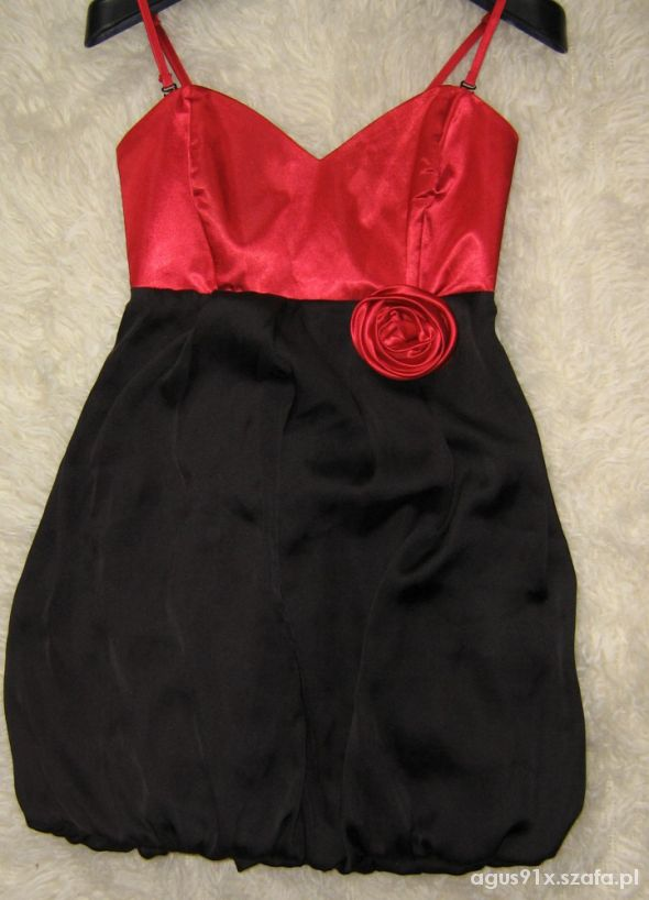 43cceea2db Sukienka AVANTI r38M wesele NOWA czerwono czarna w Suknie i sukienki ...