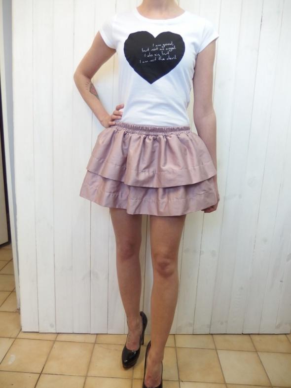 Codzienne pudrowa różowa spódnica falbanki seksowna top szpi