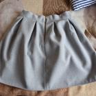 Szara rozkloszowana spódniczka