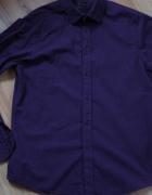 Koszula fioletowa w prążki L...