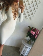 seksowna sukienka sznureczki