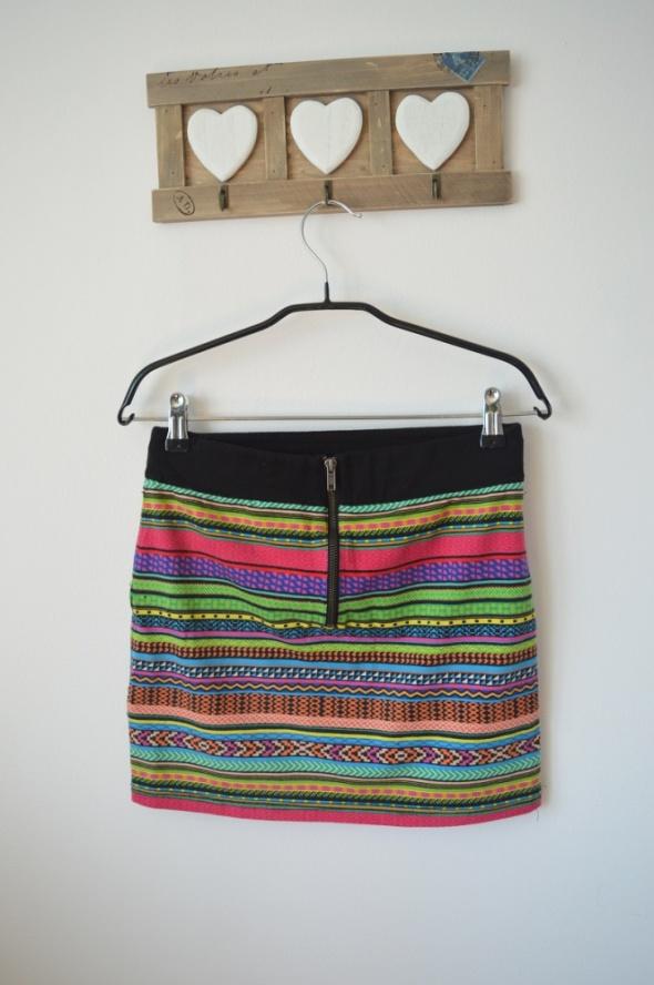 Spódnice spódnica boho aztec 36 38 zip h&m