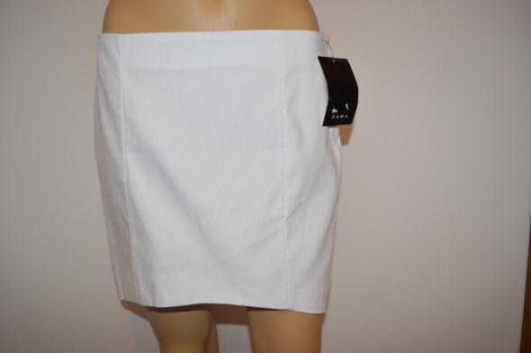 Spódnice Zara spódnica biała asymetryczna M