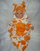 Ladybird welurowy pajac żyrafa roz 0 3 msc