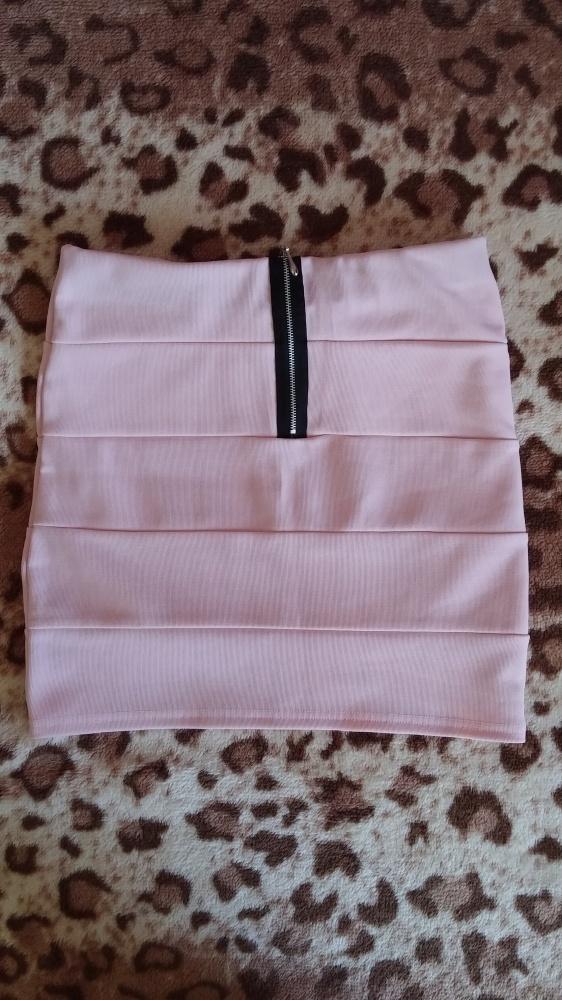 Spódnice Bandażowa pudrowa zip