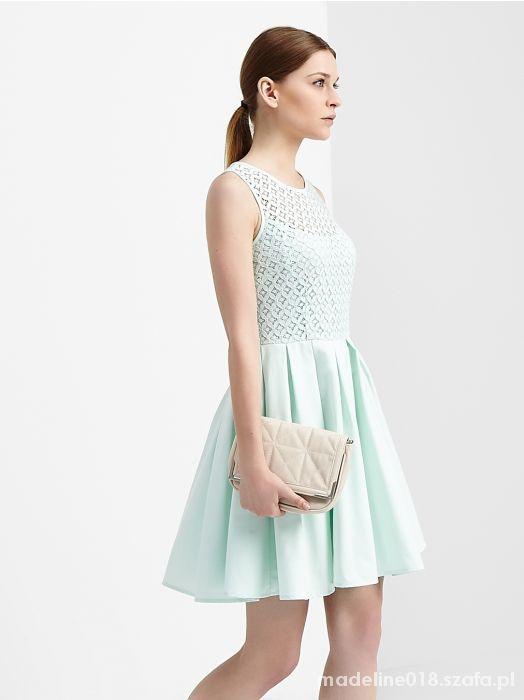 01ba3aef72 miętowa sukienka reserved nowa kolekcja w Suknie i sukienki - Szafa.pl