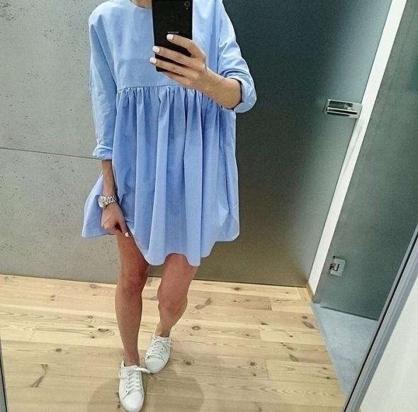 kombinezon zara baby blue kombinezon sukienka