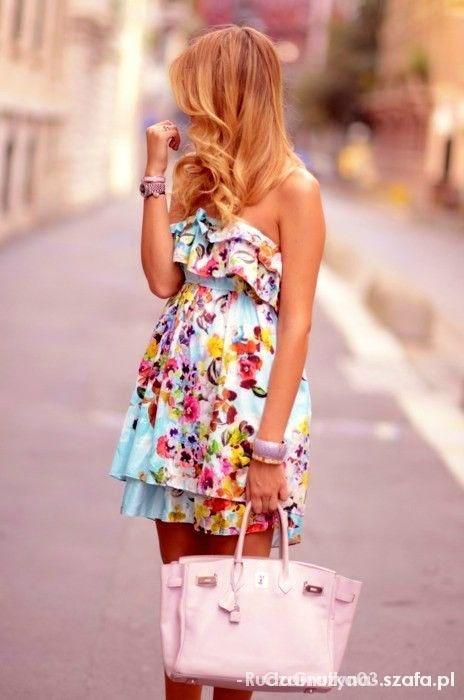 sukienka floral kwiaty print falbanki zara 36 s...