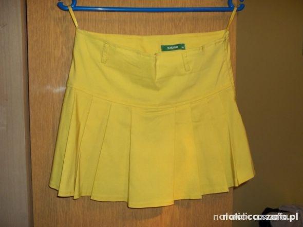 Spódnice żółta spódniczka XS S