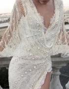 Koronkowa sukienka i szydełkowa...