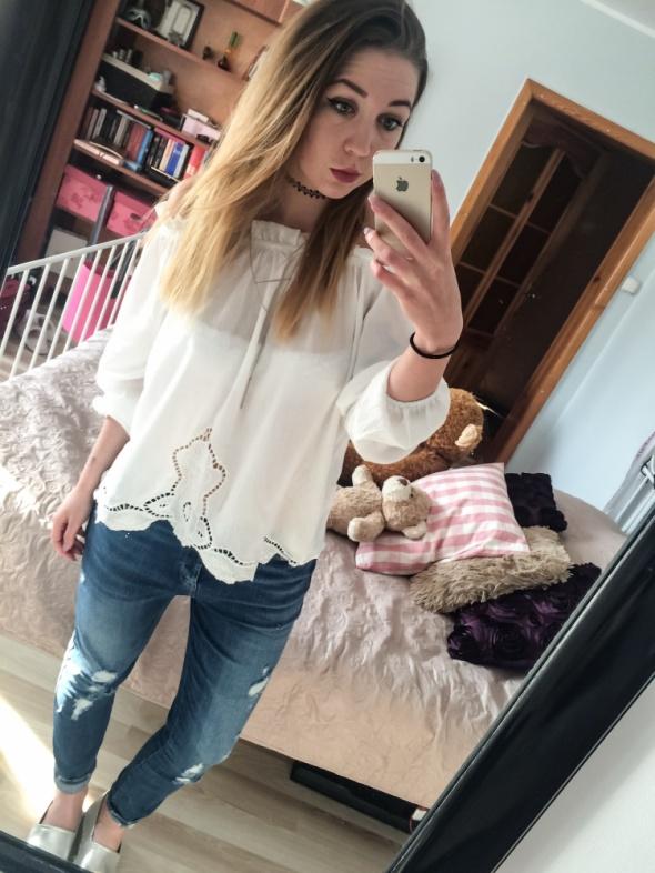 Codzienne Biała bluzka boHo