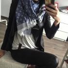 Louis Vuitton szal chusta niebieska jeans 24h