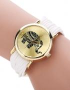 Zegarek Słonik Biały