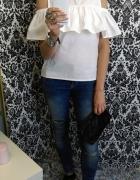 biały top z hiszpanką sekowny w stylu boho