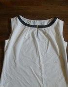 Biała bluzka bez rekawów z zamkiem rozmiar 44