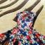 Rozkloszowana sukienka floral XS S
