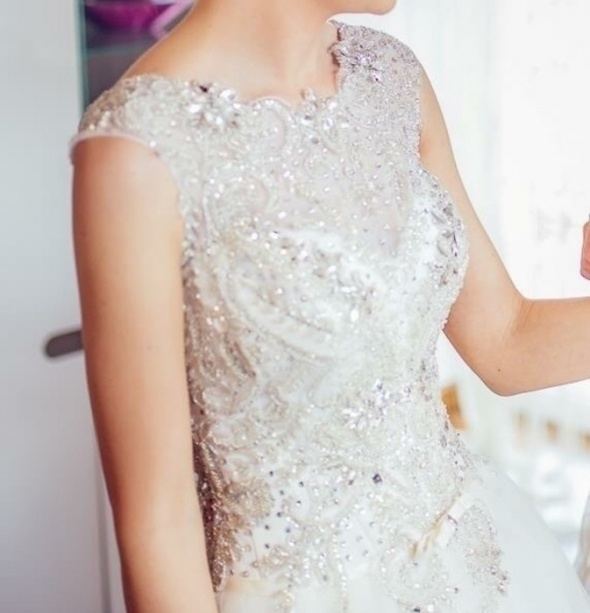 Suknia ślubna Kryształy Błyszcząca Księżniczka 36 W Suknie ślubne