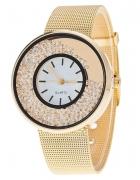 Złoty Zegarek Z Cekinami