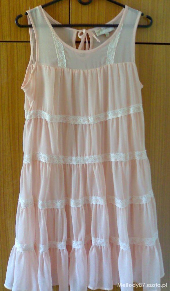 Suknie i sukienki pudrowa na lato
