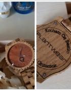Drewniany zegarek Dąb