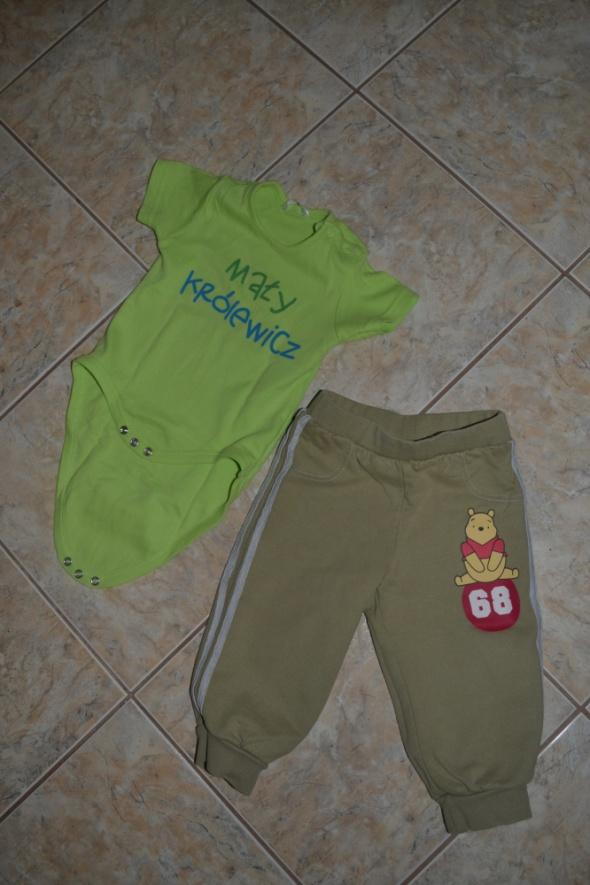 Komplety Komplecik spodnie i Body 74cm