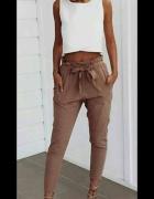 spodnie z wysoki stan